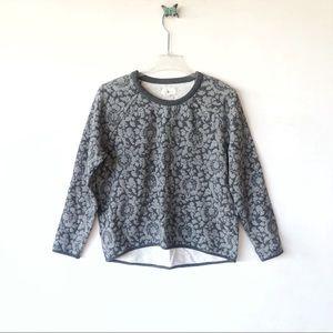 Lou & Grey floral crew sweater sz medium
